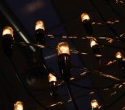 Una luz hecha de muchos bombilla fluorescente Fotos de archivo libres de regalías