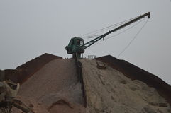 Una máquina grande de la arena Imagen de archivo