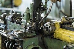 Una máquina-herramienta durante una rotura entre los trabajos Fotos de archivo