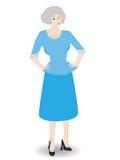 Una más vieja mujer de negocios - vector Foto de archivo libre de regalías