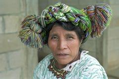 Una más vieja mujer india guatemalteca de Ixil del retrato Fotografía de archivo libre de regalías