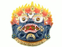 Una máscara demoníaca fotos de archivo libres de regalías