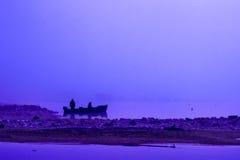 Una mañana azul Imágenes de archivo libres de regalías