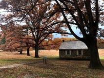 Una mañana del otoño en el parque histórico nacional de la fragua del valle situado en fragua del valle, Pennsylvania, los E.E.U. imágenes de archivo libres de regalías