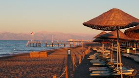 Una mañana en la playa Fotografía de archivo