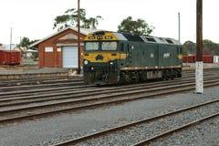 Una macchina per locomotive G classa nazionale pacifica G543 alla stazione ferroviaria di Maryborough Fotografie Stock