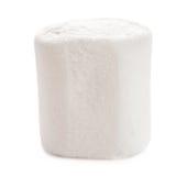 Una macro bianca lanuginosa della caramella gommosa e molle isolata sopra backgroun bianco fotografie stock libere da diritti
