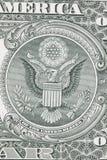 Una macro inversa della banconota in dollari Fotografia Stock