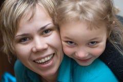 una madre delle 2 figlie Fotografie Stock