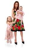 Una madre joven con dos niños jovenes Imágenes de archivo libres de regalías