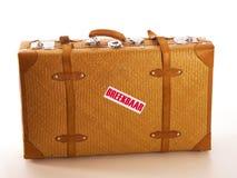 Una maleta del viaje foto de archivo