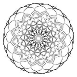Una mandala monocromática hermosa Estrella hexagonal Un modelo para a Fotos de archivo