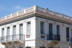 Una manera del tractional de edificio en Grecia Fotos de archivo
