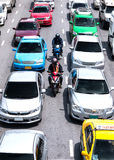 Una manera más rápida de transportar en los caminos ocupados en Bangkok Imágenes de archivo libres de regalías