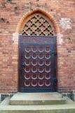 Una maneta de puerta vieja del metal Fotografía de archivo