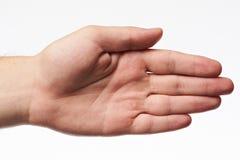 Una mano áspera de la palma imagenes de archivo