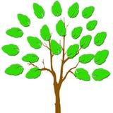 Una mano con las hojas stock de ilustración