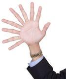 Una mano con nove barrette Fotografia Stock Libera da Diritti