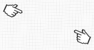 Una mano dei due pixel illustrazione vettoriale