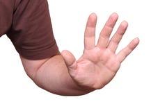Una mano difensiva Immagini Stock