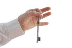 Tenga la vecchia chiave Fotografie Stock Libere da Diritti