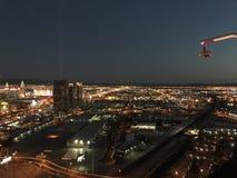 Una manta de la luz de hogares de los residentes de Las Vegas fotografía de archivo libre de regalías