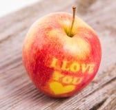 Una manzana de amor Imagen de archivo libre de regalías