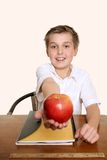 Una manzana para mi profesor Imagen de archivo