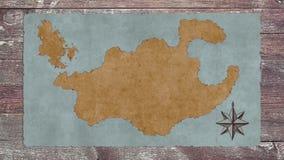 Una mappa in bianco del tesoro illustrazione vettoriale
