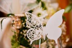 Una mariposa blanca Imagen de archivo libre de regalías