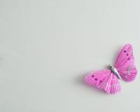 Una mariposa de seda púrpura Fotografía de archivo