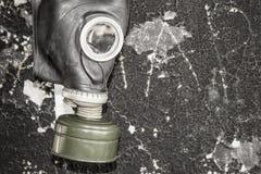 Una maschera antigas La minaccia di ecologia fotografie stock libere da diritti
