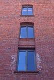 Una maschera della priorità bassa di tre finestre Fotografia Stock