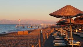 Una mattina alla spiaggia fotografia stock