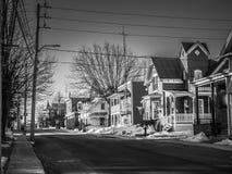 Una mattina calma nella città Fotografie Stock