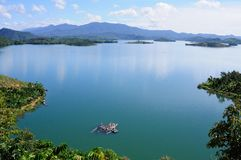 Una mattina di estate nel lago Dami Immagine Stock Libera da Diritti