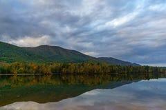 Una mattina nel lago indiano boundary fotografie stock libere da diritti