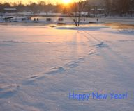 Una mattina soleggiata in anticipo di inverno Immagine Stock Libera da Diritti