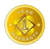 Una medalla de oro de la garantía del año Imagen de archivo libre de regalías