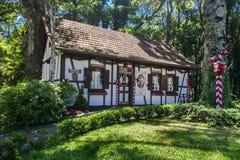 Casa alemana típica en el Brasil Foto de archivo