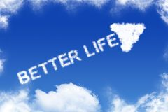 Una mejor vida - texto de la nube stock de ilustración