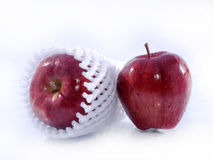 Una mela di due colori rossi Fotografia Stock Libera da Diritti