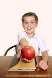 Una mela per il mio insegnante Immagine Stock