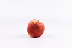 Una mela su un fondo bianco immagine stock libera da diritti