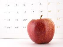 Una mela un il giorno Fotografia Stock Libera da Diritti