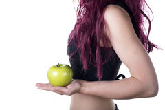 Una mela un il giorno tiene medico assente Fotografia Stock Libera da Diritti