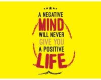 Una mente negativa Fotos de archivo libres de regalías