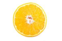 Una metà dell'arancio Immagini Stock Libere da Diritti