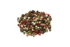 Una mezcla de granos de la pimienta Foto de archivo libre de regalías