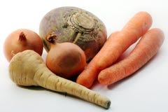 Una mezcla de verduras de la sopa Fotografía de archivo